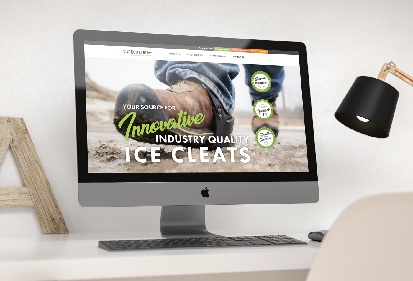 geroline homepage website design