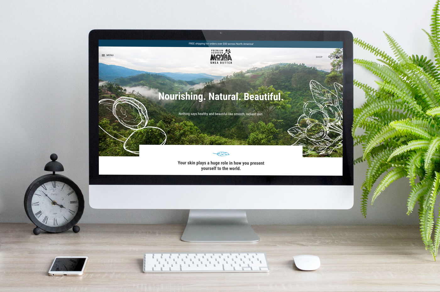 Moyaa Shea Butter Responsive Web Design Homepage by H&C Inc.