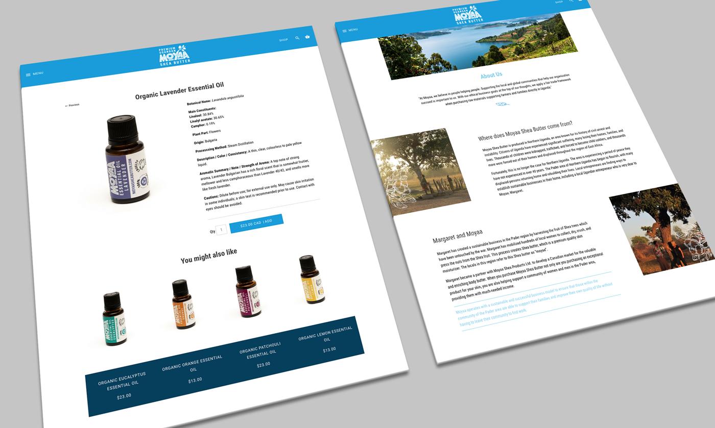 Moyaa website design and development for ecommerce