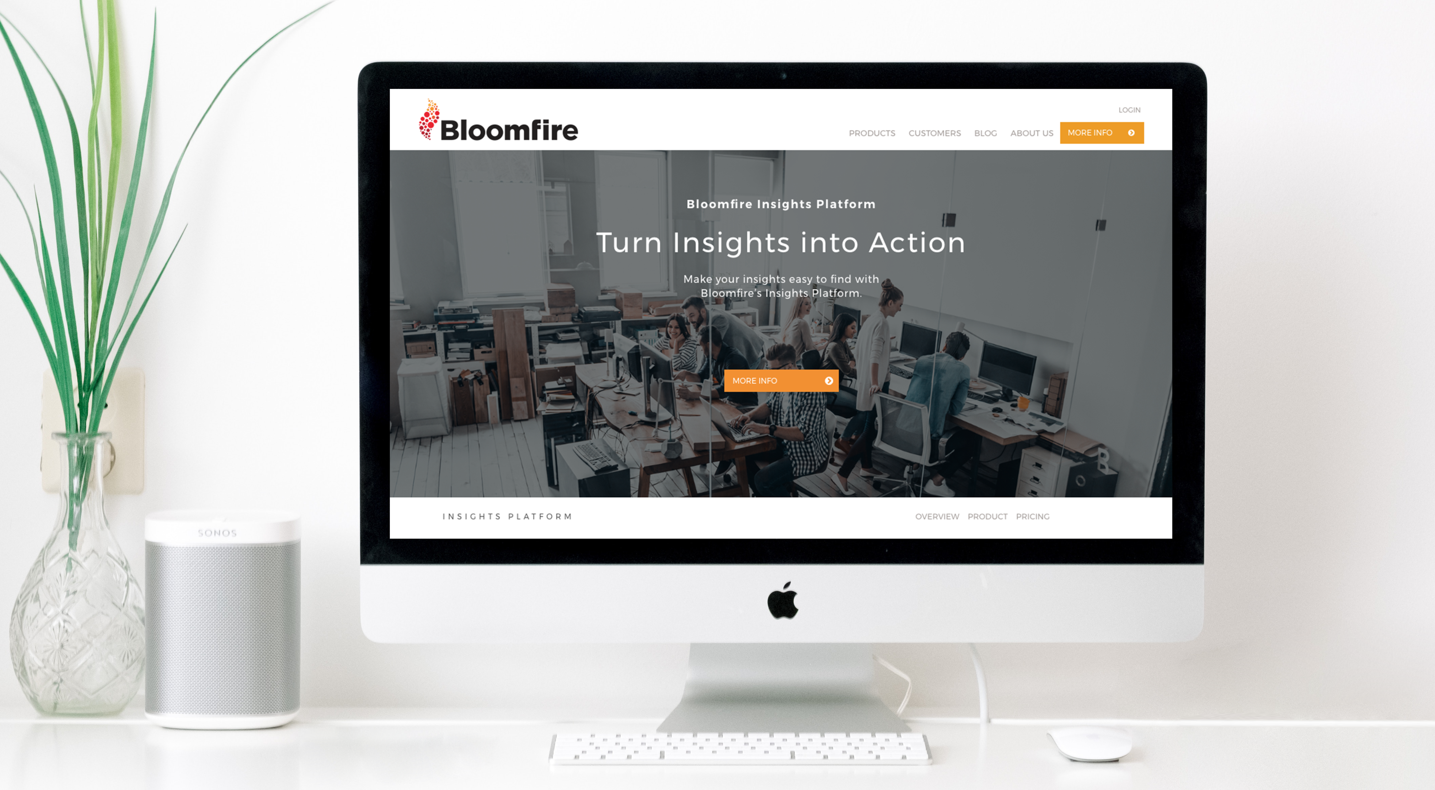 Bloomfire Website Design and HubSpot Work by H&C Inc.