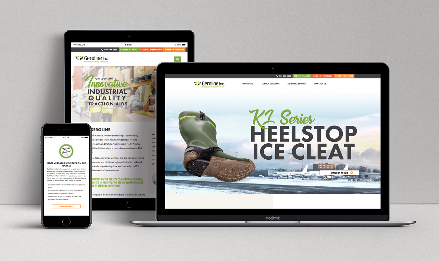 Geroline website design case study H&C Inc