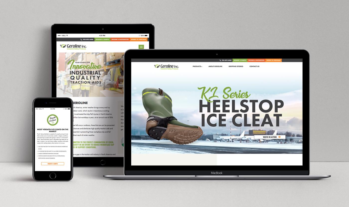 geroline responsive website design