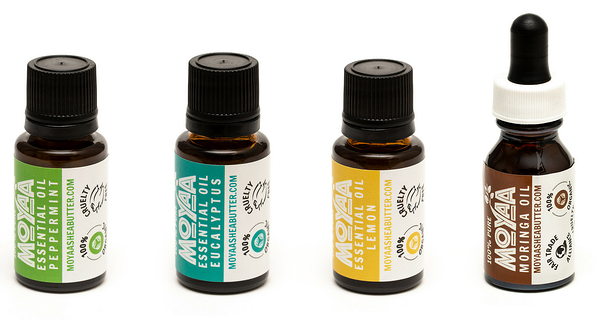 Moyaa Shea Butter essential oils packaging design and rebranding by H&C Inc.