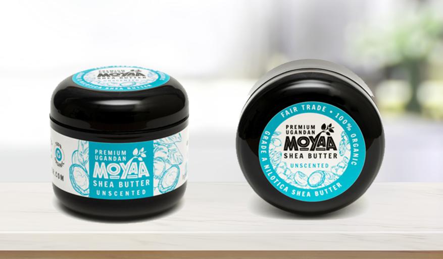 Moyaa shea butter product packaging design