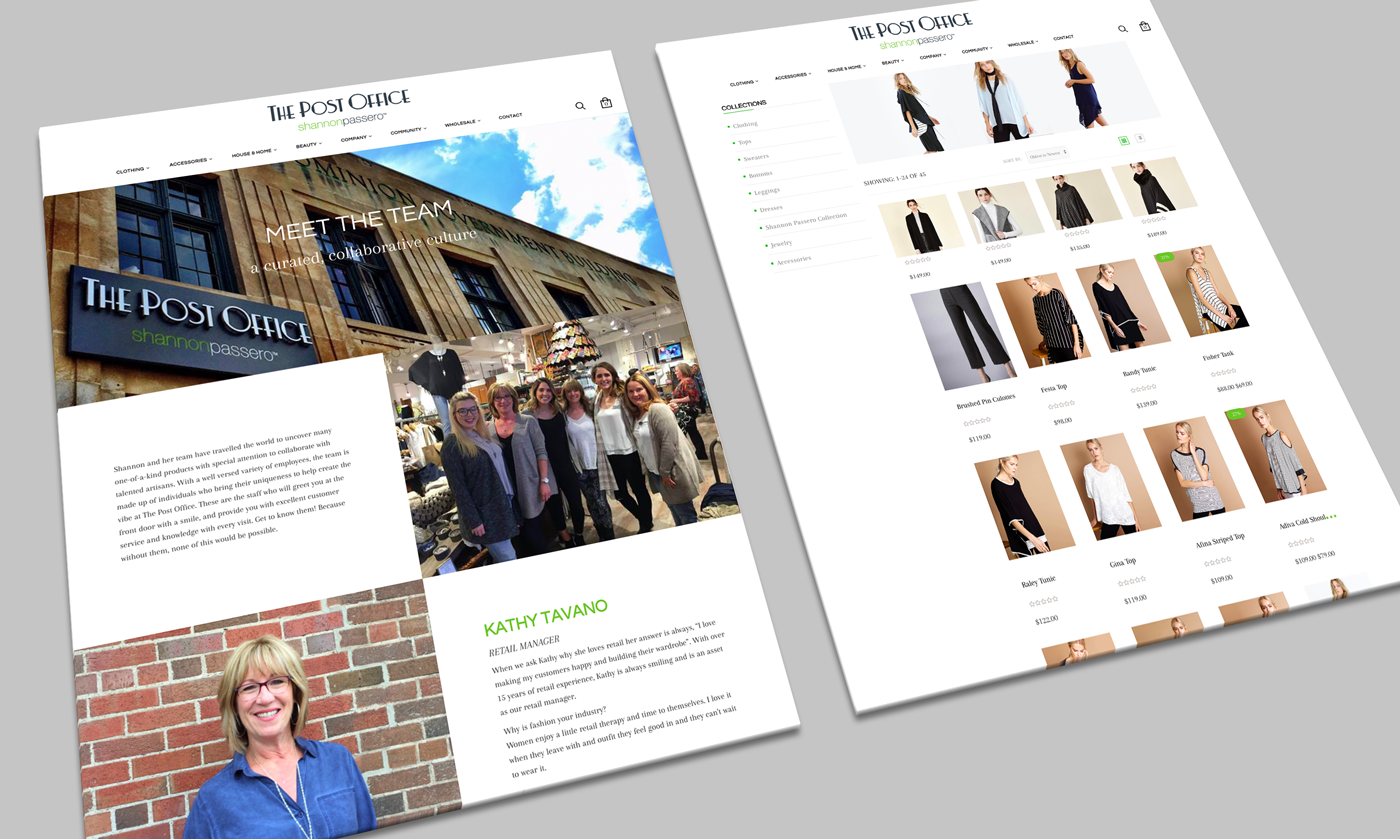 shannon passero website design