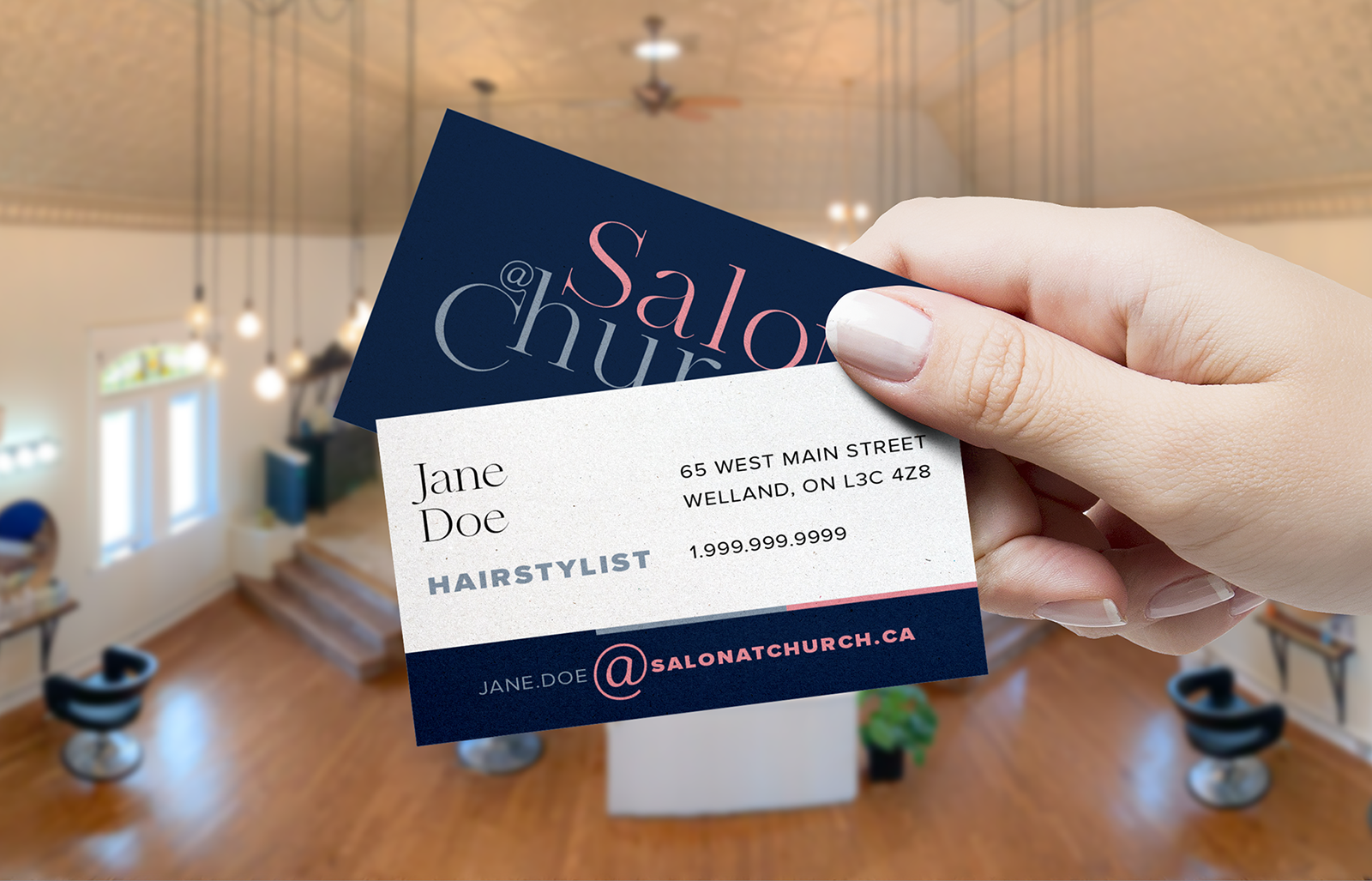 H&C - AtChurch Business Card Mockup